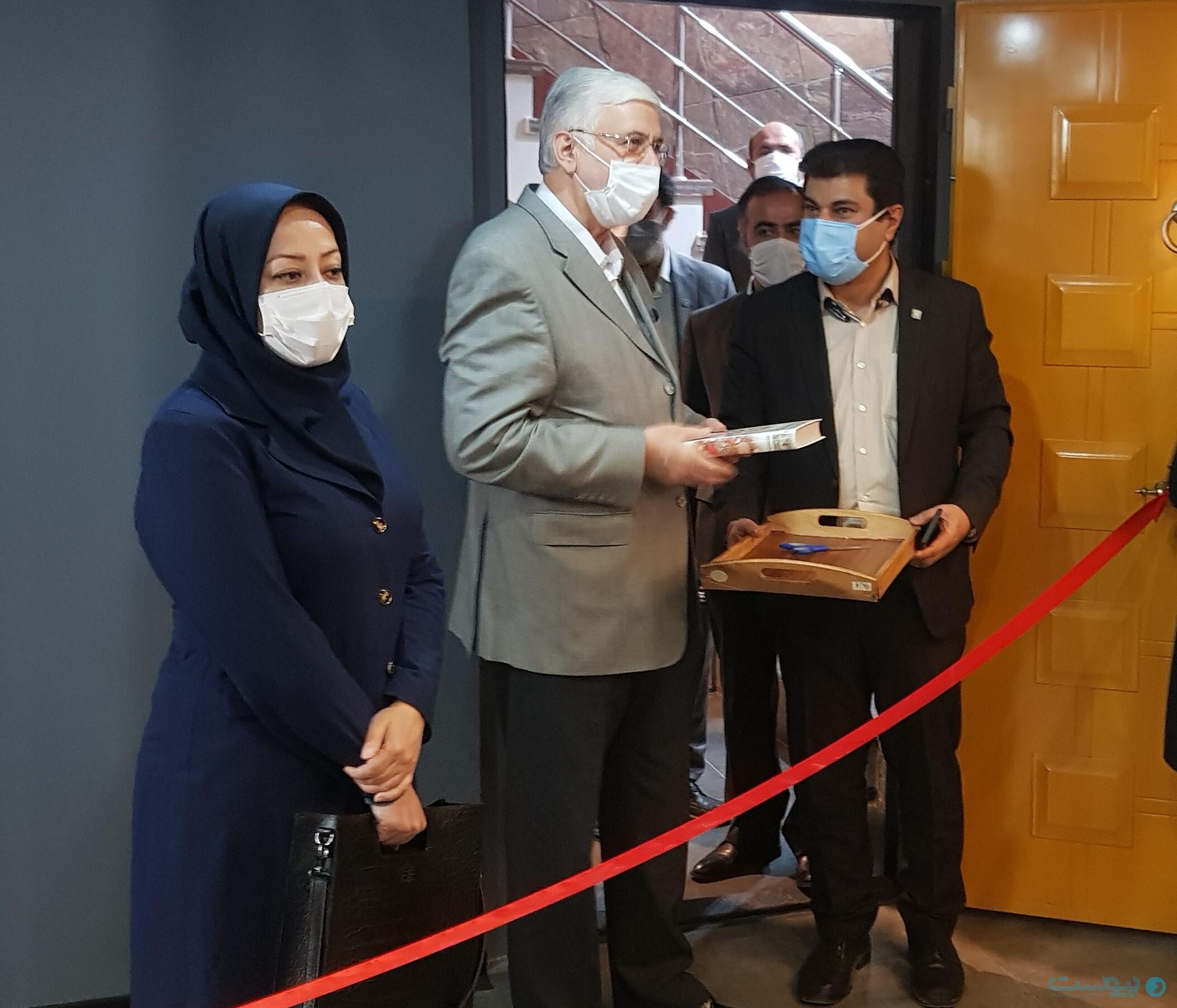 مجید قاسمی؛ مدیرعامل بانک پاسارگاد در مراسم افتتاح کافه همافزایی
