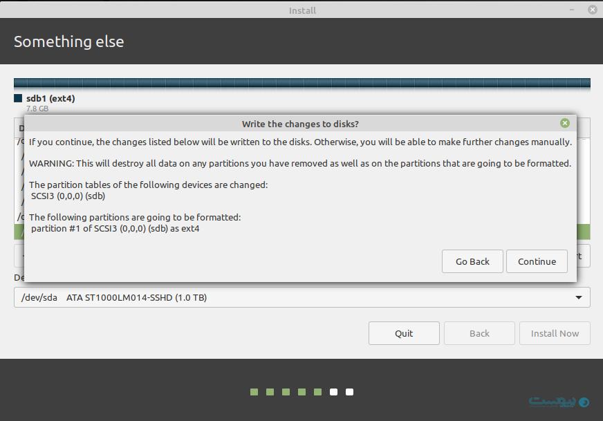 مراحل نصب لینوکس مینت