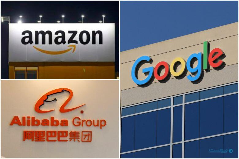 فعالیت ضد رقابتی آمازون، گوگل و علیبابا